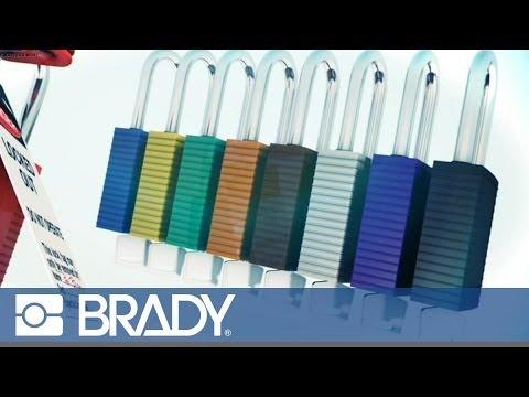 Using a Safety Padlock by Brady
