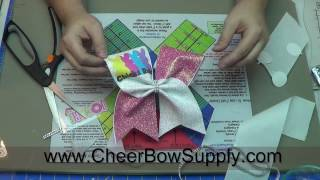 How To Make Cheer Bows With Perfectly Placed Graphics