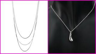 Simple Platinum Chain Design For Ladies - Light Weight Platinum Chains