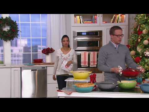 Le Creuset Heritage 4.5qt Cast Iron Chef's Oven & Silicone Trivet on QVC
