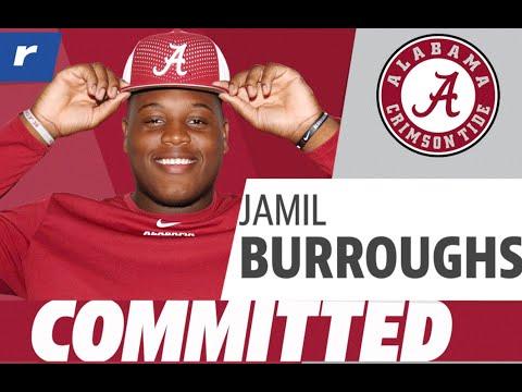 Jamil Burroughs commits to Alabama Crimson Tide Football