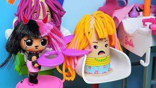 МУЛЬТИК ЛОЛ Утро куклы в ПЛЕЙ ДО ПАРИКМАХЕРСКОЙ! ВСЕ НА СТРИЖКУ Видео для детей play doh