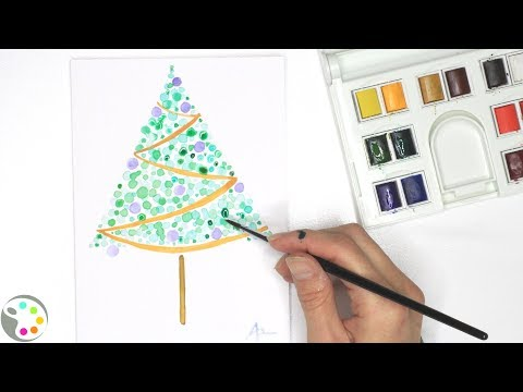 DIY Christmas Card | How to Paint a Watercolor Christmas Tree