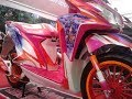 Honda Vario 125 Modifikasi Simple Full Airbrush