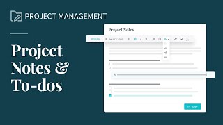 Project Notes & To-Dos