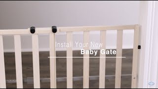 Regalo Baby Wooden Expandable Baby Gate Installation (#0720)