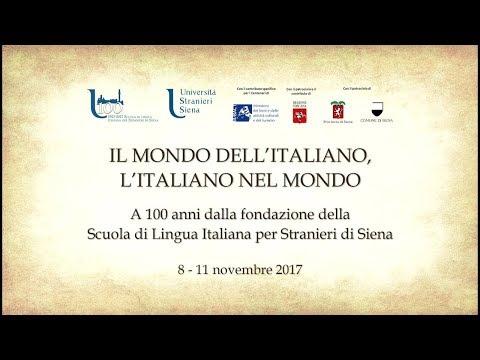 IL MONDO DELL'ITALIANO, L'ITALIANO NEL MONDO - sabato 11 novembre
