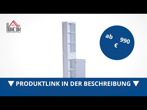 Homcom Badschrank 34x24x170cm Schrank Badezimmerschrank Badregal - direkt kaufen! - Aosom.de