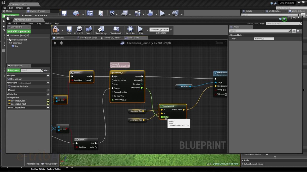 Tuto du Jeudi : Unreal Engine (blueprint) - Réaliser un ascenseur