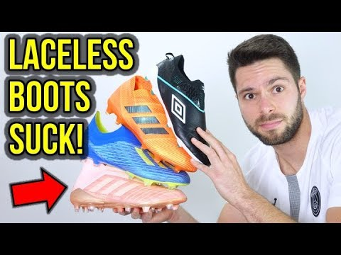 THE REAL REASON WHY I HATE LACELESS FOOTBALL BOOTS!