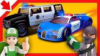 Policias dibujos animados. Policias animados en español. Coches de policia para niños Carros niños