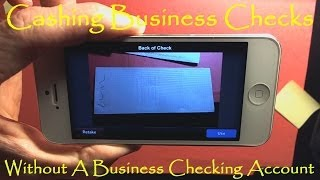 Cash A Company Business Check Without A Business Checking Account