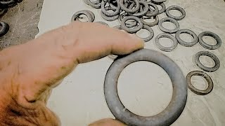 Easy Way How to make steel Ring 5cm. diameter / manual bending