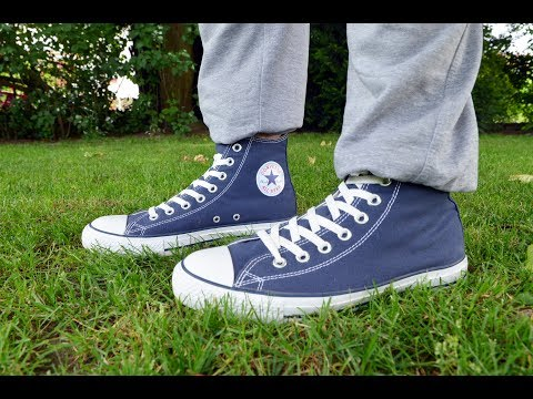 Full Day - wearing my Navy Blue Converse Chucks
