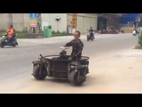 Crazy 3 Wheeled Spinning Car can go Anywhere