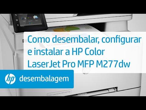 Como desembalar, configurar e instalar a HP Color LaserJet Pro MFP M277dw