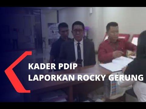 Kader PDI-P Laporkan Rocky Gerung ke Bareskrim Polri