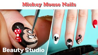 Disney Mickey Mouse Inspired Nails! | Beauty Studio