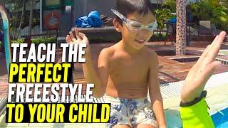 Beginner Kid Learn to Swim Freestyle in 1 Class