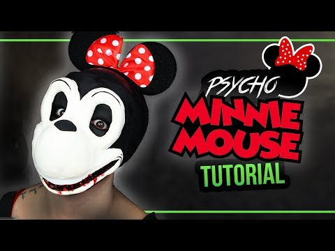 PSYCHO MINNIE MAUS - Minnie Mouse Halloween Mask Tutorial Kostüm #spooktober