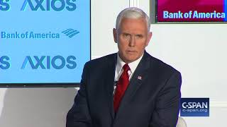 """VP Pence: """"I think the White House could have handled this better."""" (C-SPAN)"""