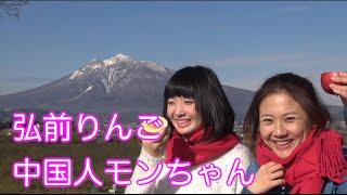 [中国女子日本旅行]モンちゃんりんご狩り体験❤三味線居酒屋[弘前]JapanTravelGuide