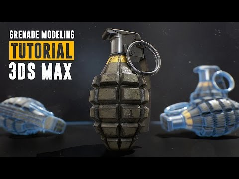 Grenade Tutorial – Part 1 – Modeling & UV Unwrapping – 3Ds Max 2016