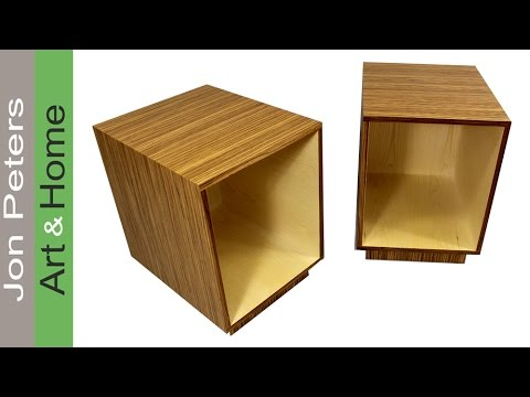 Build Modern End Tables With Plywood And Veneer For A High Design Look