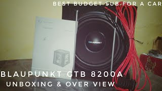 Blaupunkt GTb 8200a 8 inch active subwoofer | unboxing and overview