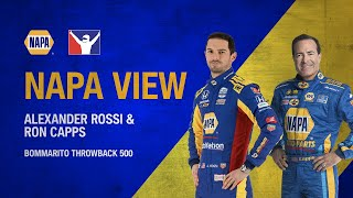 Alexander Rossi/Ron Capps NAPA View- Bommarito Throwback 500