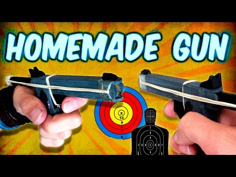 How to Make a Mini Gun Using Popsicle Sticks Homemade Weapons