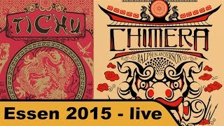 Tichu, Chimera und Erweiterungen für Cacao - Essen 2015 live