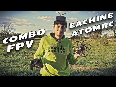 ✅ Комплект FPV Дрона для Новичка Eachine & ATOMRC Seagull Подходит для Сьемки! 🔥