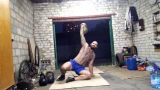 Денис Пахомов. Турецкий подъем 32 кг