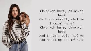 Dua Lipa - Here (Alessia Cara Cover) (lyrics)