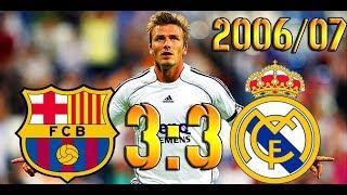 Барселона - Реал Мадрид 3:3 ОБЗОР МАТЧА HD.2006/07.