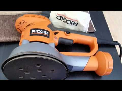 6 Inch Ridgid Random Orbital Palm Sander Review