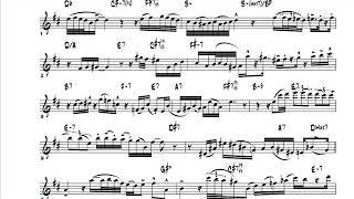 """Charlie Parker's alto solo on """"Embraceable You"""" [TRANSCRIPTION]"""