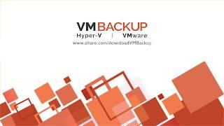 Altaro VM Backup video