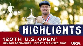 Bryson DeChambeau: Every Televised Shot of His 2020 U.S. Open Victory