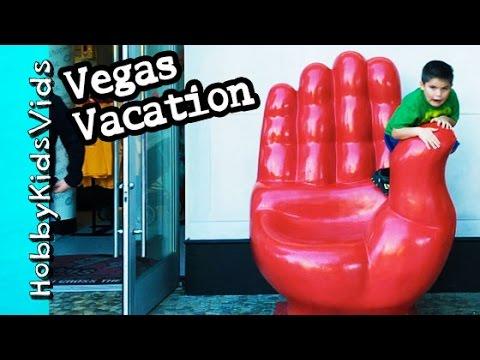 Vegas Vacation 2015! Lightning Storm + Pirate Ship, Monorail Ride Fun by HobbyKidsVids
