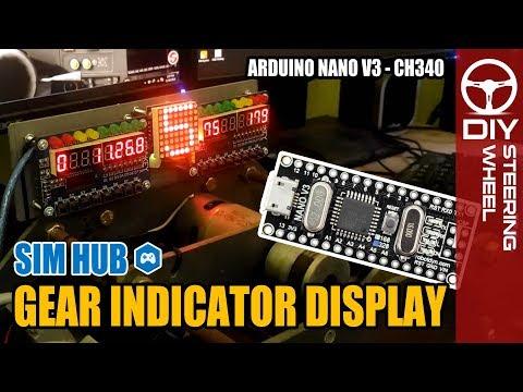 DIY Gear Indicator Display | SimHub - Sim Racing | DIY Steering
