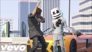 Marshmello X Roddy Ricch   Project Dreams (Official GTA Music Video)