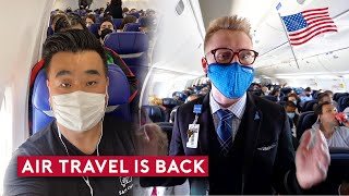 Travel is Back – New Airlines, Full Flight and Crowded Airport