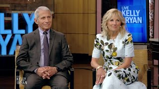 First Lady Jill Biden and Dr. Anthony Fauci Chat With Kelly and Ryan