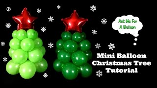 Mini Balloon Christmas Tree Decoration Tutorial