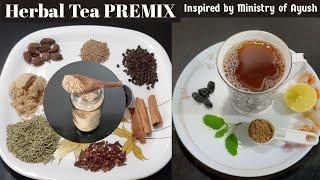 Herbal Tea PREMIX From Ministry Of Ayush- Ayurvedic Kadha Recipe - Masala Chai Premix For Immunity