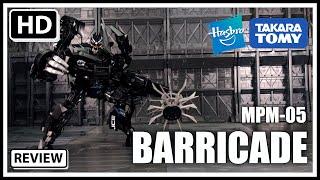 Takara Tomy Hasbro Mpm-05 Movie Masterpiece Transformers Barricade Review