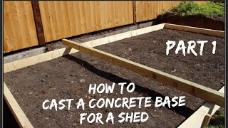 How To Lay A Concrete Base   Part One