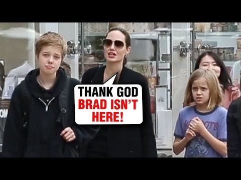 Angelina Jolie CUTE MOMENT Shops With Kids For Christmas Without Brad Pitt